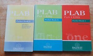 3 x PLAB Part 1 EMQ Pastest Pocket Books 1 3 4 Excellent