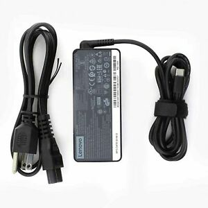 65W Genuine Lenovo USB-C Type-C Laptop Charger Power Supply Adapter ADLX65YLC3A