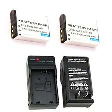2 Batteries + Charger for Casio EX-P700 EX-Z40 EX-Z50 EX-Z55 EX-Z57 EX-Z30 FC150
