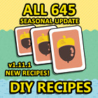 New Horizons: All 645 DIY Recipes! Updated to v1.11.1!