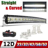 """Curved 22/32/42/50/52"""" Led Work Light Bar Off-road Combo Beam for 4x4WD ATV SUV"""