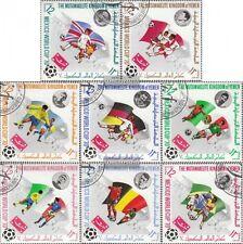 Yemen (UK) 979A-986A fine used / cancelled 1970 Football-WM 1970, Mexico