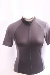 New Giro Women's Chrono Sport Jersey Cycling Bike Small Black Gray Short Sleeve