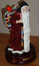 "Duncan Royale Medieval Santa Claus 11"" musical Figurine Rare ""Silent Night"""
