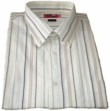 Men's Striped Short Sleeve Casual Shirts & Tops