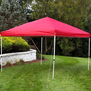 Sunnydaze 12x12 Foot Standard Pop-Up Canopy Shade - Red