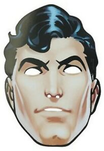 Superman Party Masks Pack of 8 - Superman Party Face Mask Supplies