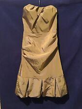 Nicole Miller Dress 4 Strapless Ruched Empire Waist (Broken Zipper) NWT $330