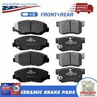 Front & Rear Cerami Brake Pad for 2013 2014 ILX 2012-2014 Civic 2003-2007 Accord