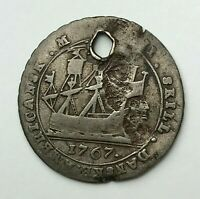 Dated : 1767 - Silver Coin - Danish West Indies - 12 Skilling - Christian VII