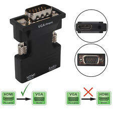 HDMI Female To VGA Male Converter Adapter 1080P Stereo Audio Output USB Power