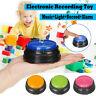 Aufnahmespielzeug Taste LED Knopf Spielzeug mit Licht Musik Kinder Interaktiv