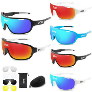 POC Sunglasses Cycling Glasses Goggles UV400 Polarized  WITH 4pc Replace Lens