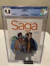 Saga #1 (2012) CGC 9.8 WHITE Pages - 1st Printing, Image, Vaughan, Staples