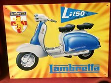 LAMBRETTA Li150 Series 2 with LION Coat of Arms Logo Vintage Metal Sign