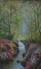Daniel Sherrin (British 1868-1940) Jesmond Dene Park Garden Newcastle Oil Canvas