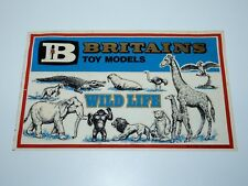 "BRITAINS SHOP DISPLAY 10,5"" WINDOW STICKER 'WILD LIFE' 1970s ENGLAND VHTF"