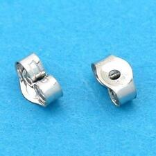 Pair 14K White Gold Safety Baby Earring Backs 2.5mm