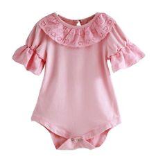 Bonito Bebé recién nacido niña encaje mono traje una pieza trajes Ropa 0-18m M