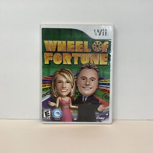 Wheel of Fortune (Nintendo Wii Game, 2010) Complete with Manual CIB