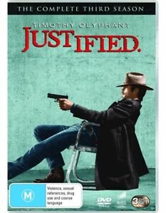 Justified : Season 3 (DVD, 3-Disc Set) NEW+SEALED