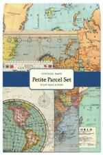 Cavallini & Co. Vintage Maps Petite Parcel Set, All Purpose Gift Wrap Bags