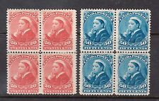 Canada #46 - #47 Mint Scarce Block Set