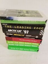 HUGE LOT OF 90'S ARCTIC CAT ACTION VIDEOS ON VHS.TWO OF THEM BRAND NEW.
