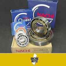 (2) 6203 2NSE C3 Nachi Bearing 17X40X12mm JAPAN 6203-2RS 6203 RS RUBBER SEALED