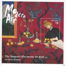 Grenada 2014 MNH Modern Art 1v S/S Dessert Harmony in Red Henri Matisse Stamps