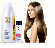 PURE 12% Brazilian Keratin 1000ml Hair Straightening Repair Treatment + Shampoo