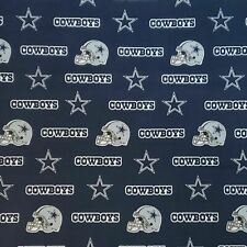 """Nfl Dallas Cowboys Blue Cotton Fabric Piece by the 1/4,1/2,Yard, 58""""W for Mask"""