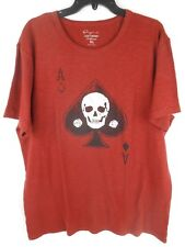 Lucky Brand Ace of Spades Short Sleeve T Shirt Mens Red NWT Extra Large XL