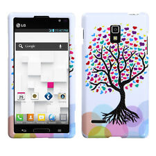 For T-Mobile LG Optimus L9 HARD Protector Case Snap On Phone Cover Love Tree