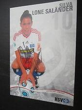 1046  Damen Frauen Fußball Silva Lone Saländer HSV original signierte AK