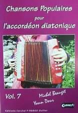 Accordéon diatonique Tablatures Chansons populaires v.7 neuf avec CD