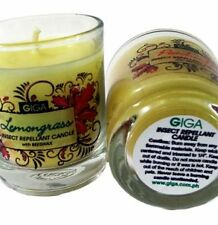 GIGA NATURALS Beeswax Candle ~CITRONELLA~ (2oz.) Insect Repellant
