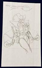 Original Comic Art -Harley Quinn #0 Prelim Sketch Walt Simonson Manhunter
