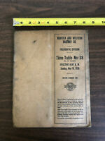 1930 Norfolk & Western Railway Co. Pocahontas Division Employees Time Table 36