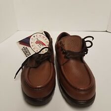 Red Wing Oxford Shoes Mens Brown Leather Casual Lace Up Moc Toe Size 8.5 D Gift