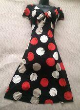 (#2060) HOBBS Lovely Spot Print Jersey Tea Dress Size 8 UK