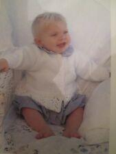 Knitting Pattern Babys & Childrens Peplum Cardigan Size 0-7 Years DK