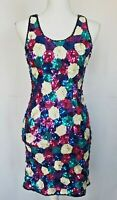 Vintage Nadine Blinged Sequin Cocktail Party Dress Small