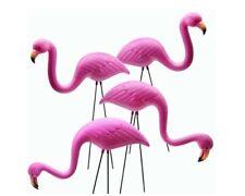 4 Pack Plastic Pink Flamingo Yard Outdoor Lawn Garden Decor Art Ornament Statue