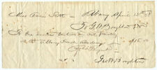 1858 Artist George Henry Boughton Signed Receipt for Oil Painting Classes
