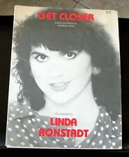 LINDA RONSTADT-GET CLOSER--PIANO/VOCAL/GUITAR SHEET MUSIC-BRAND NEW ON SALE-RARE