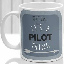 TAZZA cosa pilota, ideale per qualsiasi pilota (Blu)