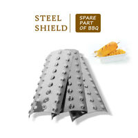 Gas Grill Heat Shield Plates Stainless Steel Flame Tamer for BBQ