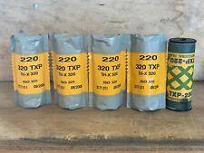 Four rolls Kodak Tri-X 320 TXP Medium Format 220 film Expired 2006 - 1 bonus rol