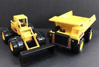 Vintage Remco Yellow Dump Truck & Loader Steel Construction Vehicles 1986 Korea